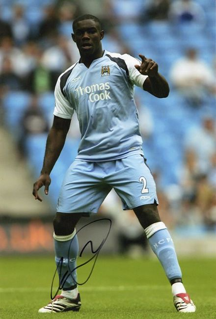 Micah Richards, Manchester City & England, signed 12x8 inch photo.
